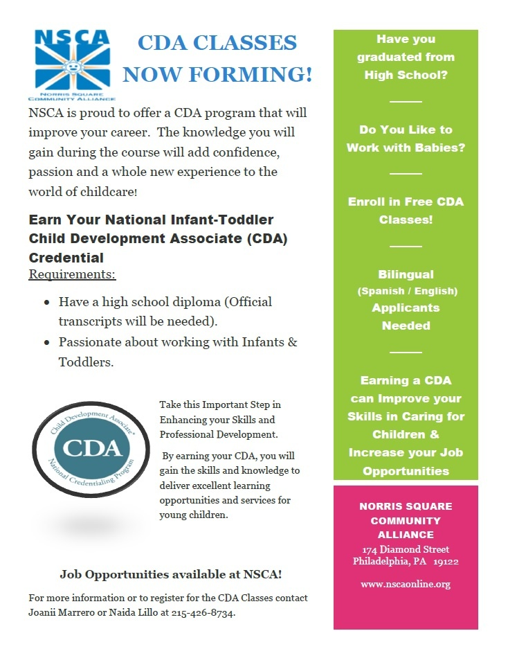 cda classes now forming! – norris square community alliance
