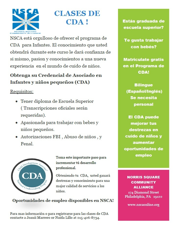 CDA Classes Espanol May 2015