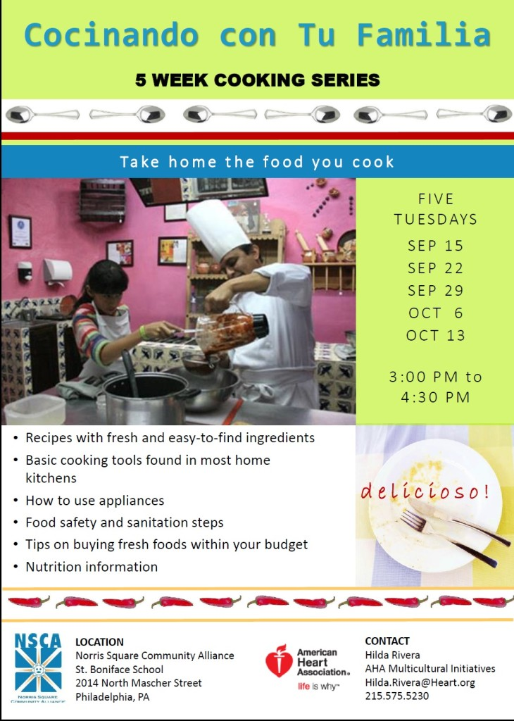 Fall 2015 Cooking Classes English