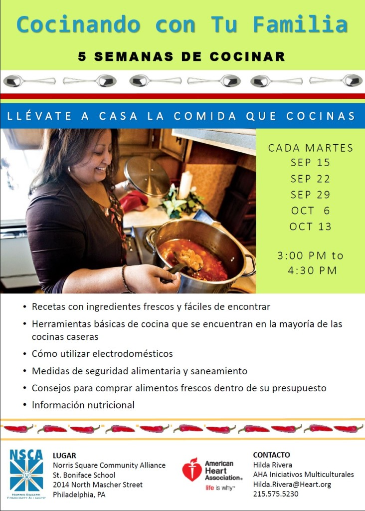 Fall 2015 Cooking Classes Esp