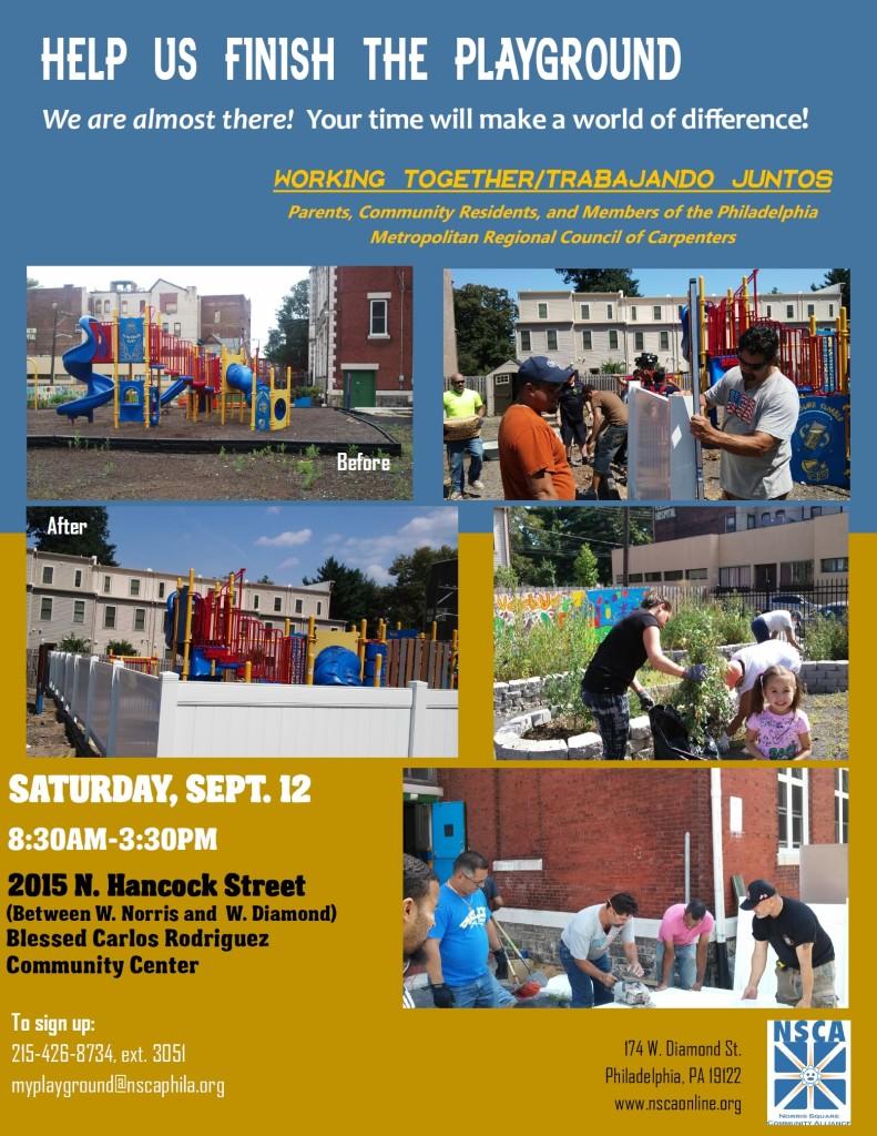 Sept 12 2015 Volunteer Call