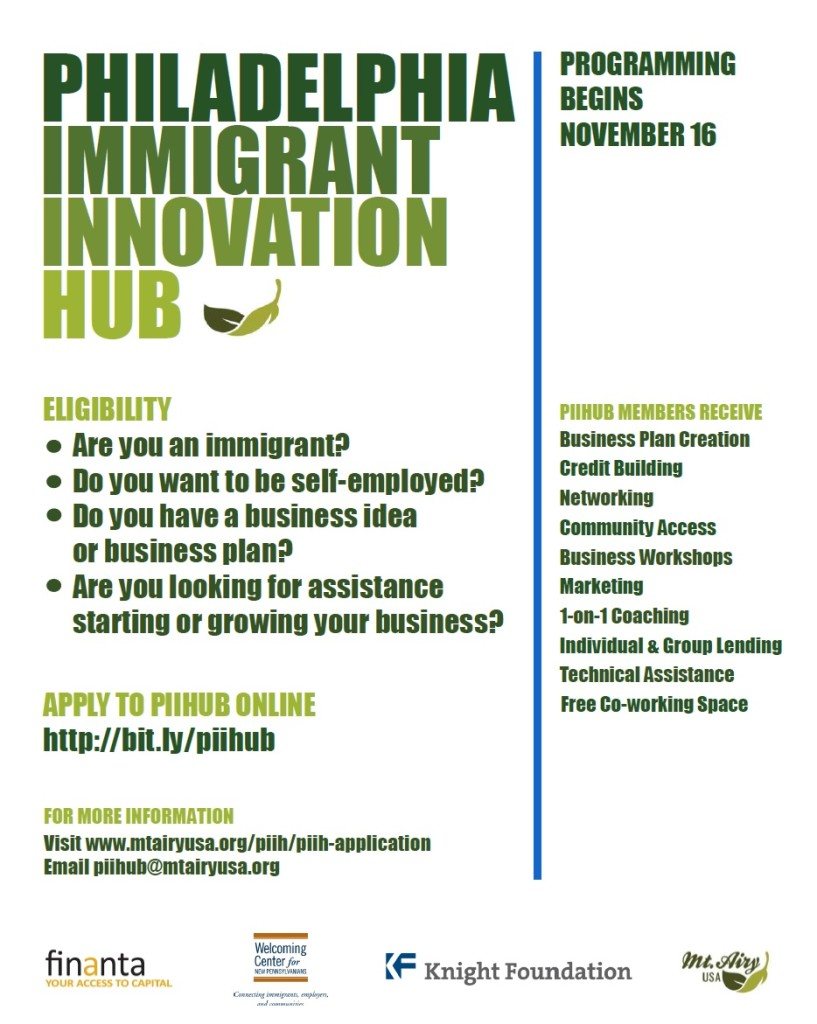 PHL Immigrant Innovation Hub