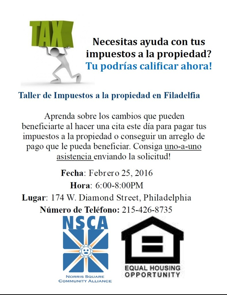 Property Tax Workshop Spanish